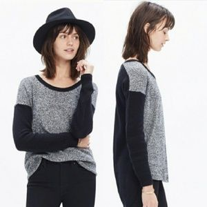 Madewell Chronicle Pullover Black Texture Sweater